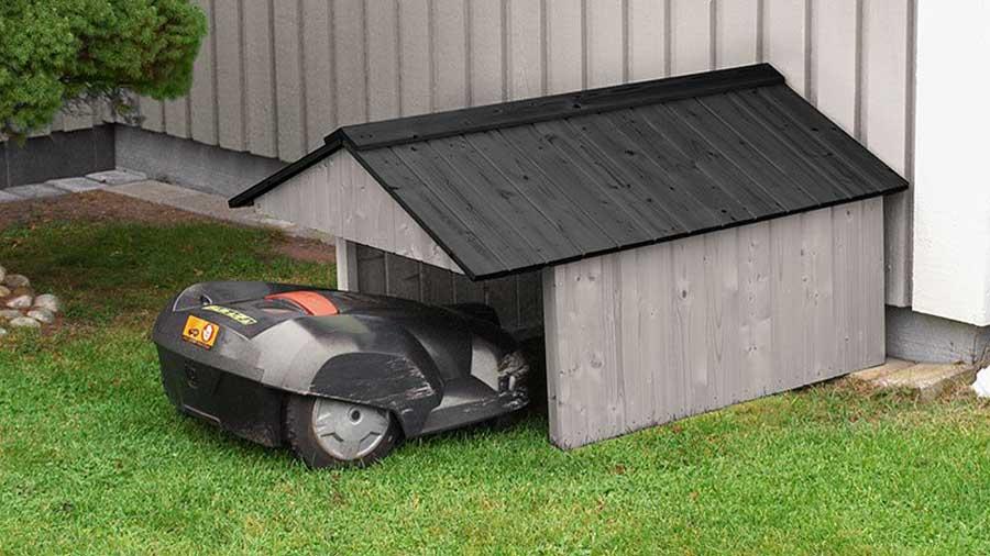 garage till robotgräsklippare